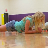 Indianola students exercising in the gym