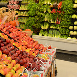 Aisle of fruits and vegetables